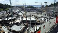 İnönü Stadı inşaatında kaza!