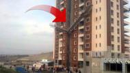 Asansör dokuzuncu katta ikiye ayrıldı..