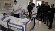 Öğrenciler öğretmenin bacağını kırdı!