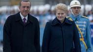Erdoğan, Grybauskaite'yi böyle karşıladı