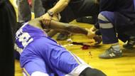 Basketbol maçında feci kaza
