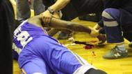 Basketbol maçında feci kaza!
