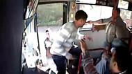 Halk otobüsünde kanlı kavga