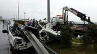 Bariyer otomobili ikiye böldü: 1 ölü!