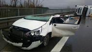 TEM'de akıl almaz kaza!
