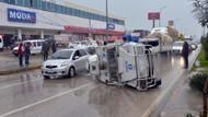 TOMA'ya çarpan zırhlı araç devrildi: 3 yaralı