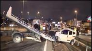 İstanbul'da kaza dehşeti! Çarpıştılar, takla attılar