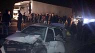 Tek şerit dehşeti.. 2 otomobil çarpıştı: 1 ölü, 5 yaralı