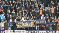 Kasımpaşa tribünlerinden Aziz istifa pankartı
