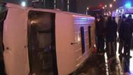 TEM'de minibüs devrildi: 10 yaralı