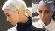 Kim Kardashian'ın saçları iflas etti