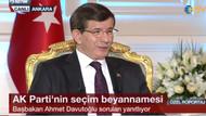 Davutoğlu: Birinci parti olmazsak istifa ederim