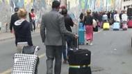 Turistlerin zorunlu bavul eylemi