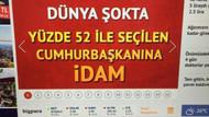 Hürriyet o manşeti savundu! Erdoğan çok kızmıştı..