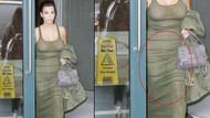 Kim Kardashian korsesini hamileyken bile çıkarmıyor..