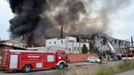 Kocaeli'nde büyük fabrika yangını!