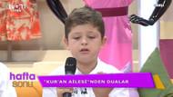 Kur'an ailesinden canlı yayında dualar