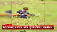 Çocuğunun eline pompalı tüfek verip ateş ettirdi