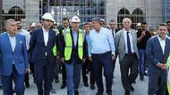 Erdoğan Çamlıca Camii inşaatında inceleme yaptı