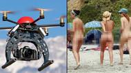 Çıplaklar plajında röntgenci drone skandalı!