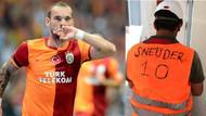 Sneijder'den o fotoğraftaki işçiye 10 numara jest!