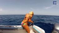 Seksi balıkçı Darcie'nin köpek balığıyla imtihanı