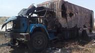 Suriye jetleri yardım tırını vurdu