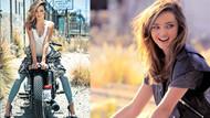 Motosiklet güzeli Miranda Kerr