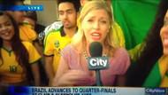 Kadın muhabire küfür şoku