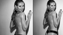 Heidi Klum üstsüz pozuyla olay yarattı