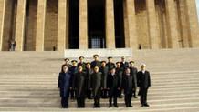 YAŞ üyeleri Anıtkabir'de