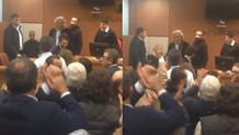 Kararın ardından duruşma salonu