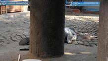 İHA kamerasından Tahir Elçi'ye saldırı anı