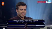 Kim Milyoner Olmak ister yarışmasında şaşırtan soru!