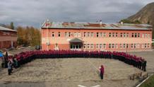 Okulda İstiklal Marşı sonrası hatim duası