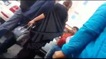 Yeşilköy'de trafik polisine saldırı anı