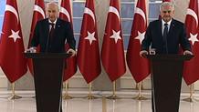 Binali Yıldırım ve Devlet Bahçeli'den Başkanlık açıklaması