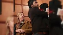 Can Dündar'a soru sormak istedi saldırıya uğradı
