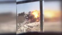 Mardin'de hainlerin tuzakladığı el yapımı bomba böyle patladı!