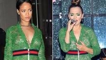 Demet Akalın'ın sansürlü Rihanna kıyafeti