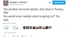 Donald Trump ve birçok ünlüden Atatürk Havalimanı'ndaki terör saldırısına tepki