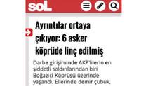 Sol gazetesi darbe karşıtlarını katliamcı ilan etti!