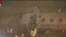 Erdoğan'ın uçağının İstanbul'a indiği an