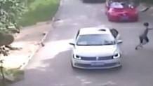 Çin'de aracından inen kadına kaplan saldırdı