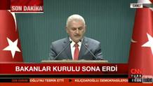 Son dakika: Erdoğan başkanlığındaki Bakanlar Kurulu sona erdi! Başbakan'dan önemli açıklamalar