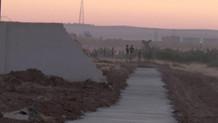 Suriye sınırında duvar gerginliği!