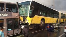 İşte o kazada metrobüs şoförüne saldırma anı!