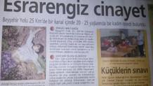Korkunç cinayet, gazete küpürüyle aydınlatıldı