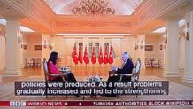 BBC World News, Binali Yıldırım söyleşisi boyunca altyazı olarak Wikipedia engellemesini geçti