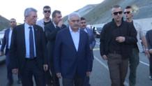 Başbakan Yıldırım, kazayı görür görmez konvoyu durdurdu